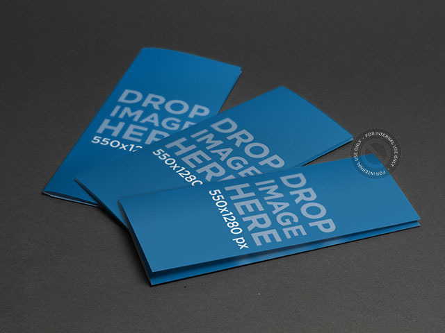 Brochure Mockup Featuring 3 Brochures Lying Over a Smooth Surface a6342