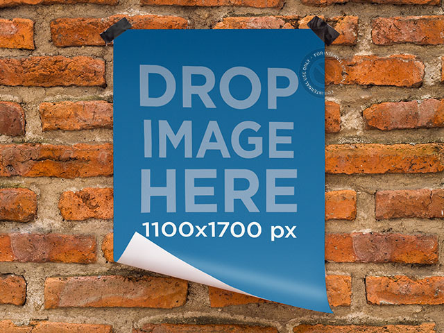 Placeit Poster Mockup Featuring A Poster Taped To A