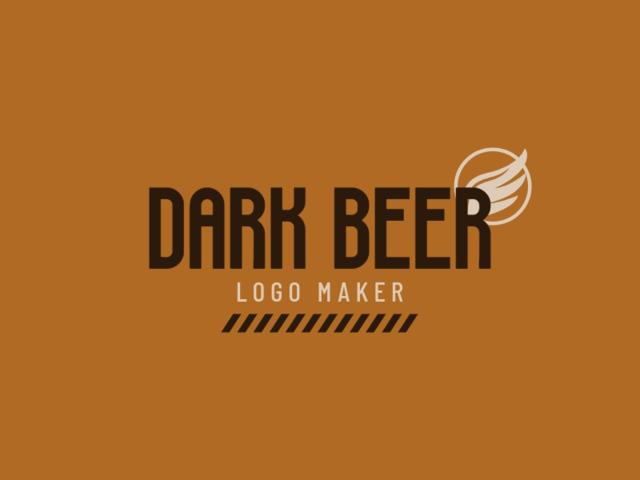 Placeit Craft Beer Logo Maker For Dark Beer