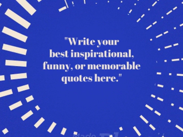 Inspirational Quote Video Maker for Instagram 854