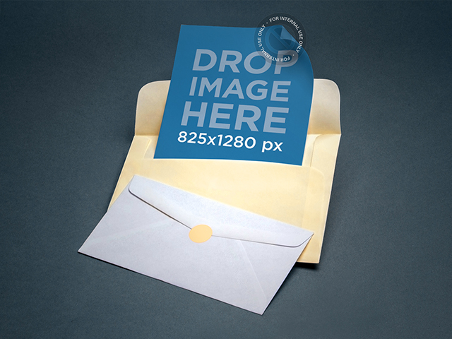 Envelope Mockup Featuring Two Envelopes Lying Next to Each Other a6560