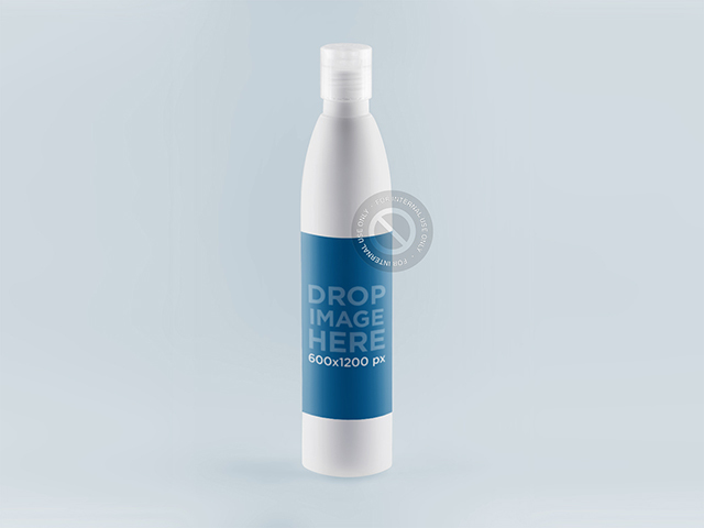 Label Mockup on a White Bottle for Branding a842
