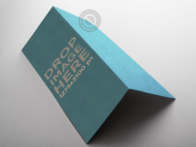 Brochure Mockup Lying Over a Solid Background a6238
