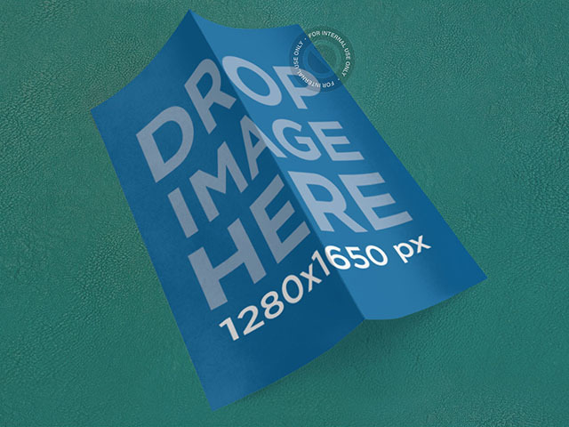 Brochure Mockup Featuring a 2 Panel Brochure a6335