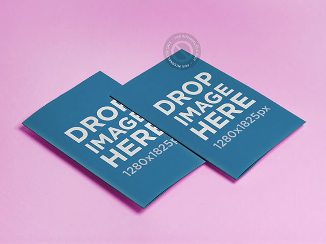 Brochure Mockup Featuring 2 Brochures Lying in an Angled Position a6362