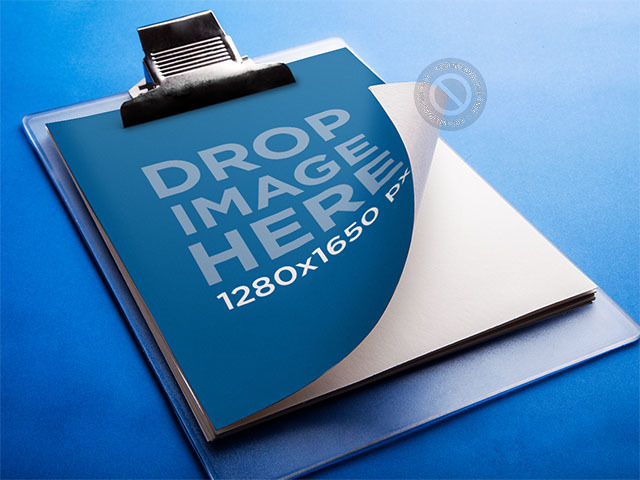 Mockup Featuring a Clipboard Lying Over a Smooth Surface a6221