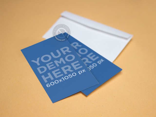 Mockup Featuring Two Business Cards Lying on Top of an Envelope a6475