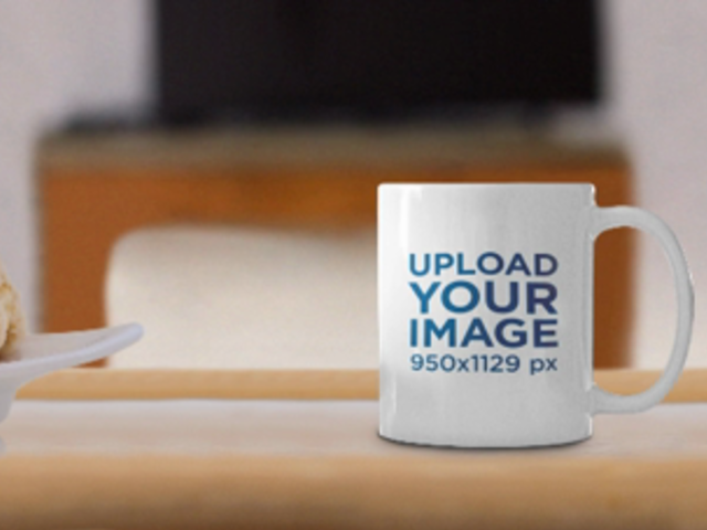 Parallax Video Mockup of a Coffee Mug on a Breakfast Table 25649