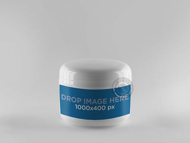 Label Mockup Featuring a Plastic Jar a854