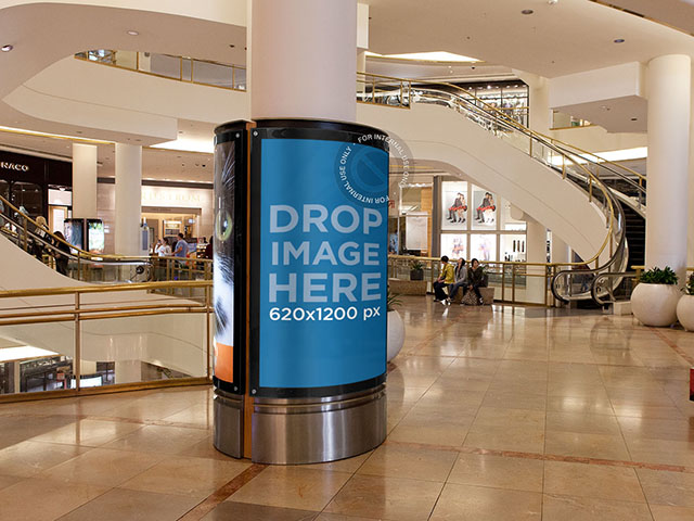 Indoor Shopping Mall Ad Mockup  a906