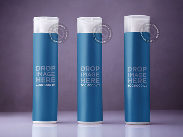 Label Mockup Featuring a Set of Shampoo Bottles a6632