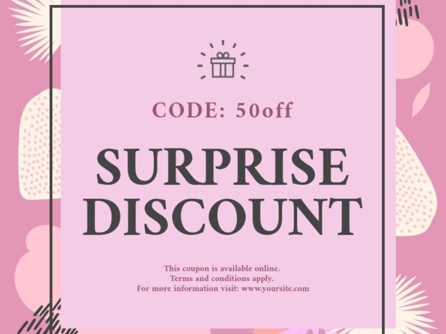 Cute Coupon Template For Surprise S