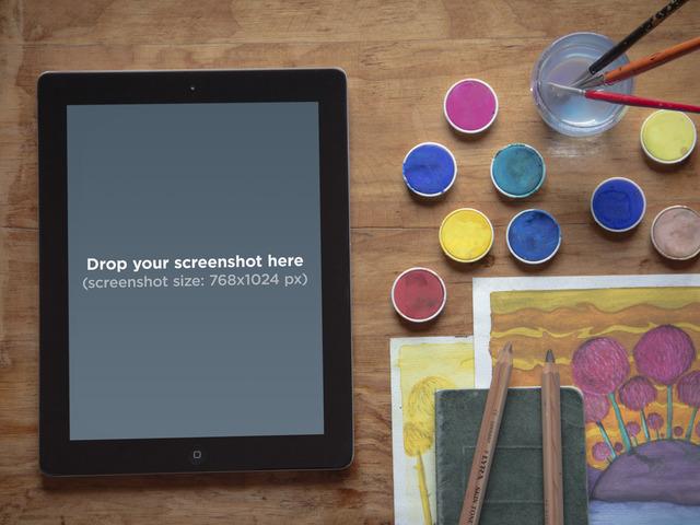Black iPad Creative Environment