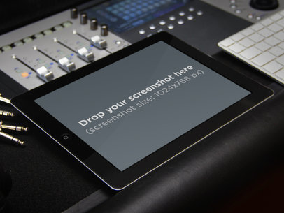 Black iPad Music Studio Landscape
