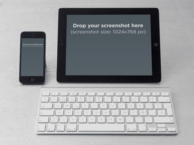 iPhone Vs iPad Portrait Desktop Keyboard