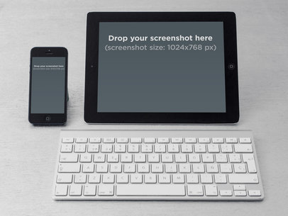 iPhone Vs iPad Portrait Desktop Keyboard