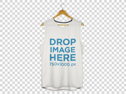 Tank Top Mockup of a Tank Top Over a Flat Background a8177