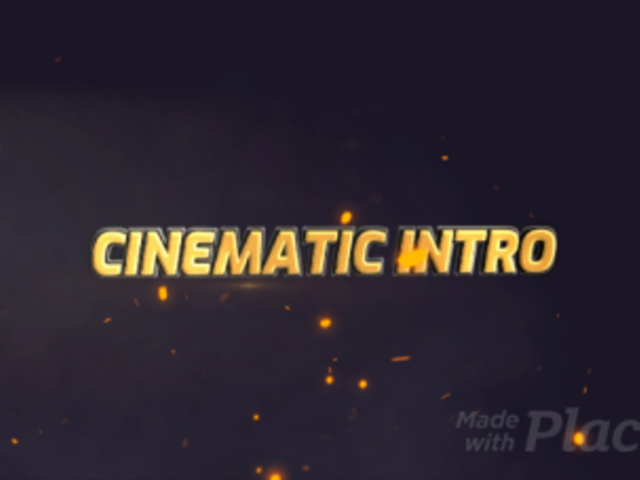 Cinematic Intro Maker with a Metallic Text Animation 1646