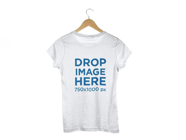 T-Shirt Back Shot Clothing Mockup a8174