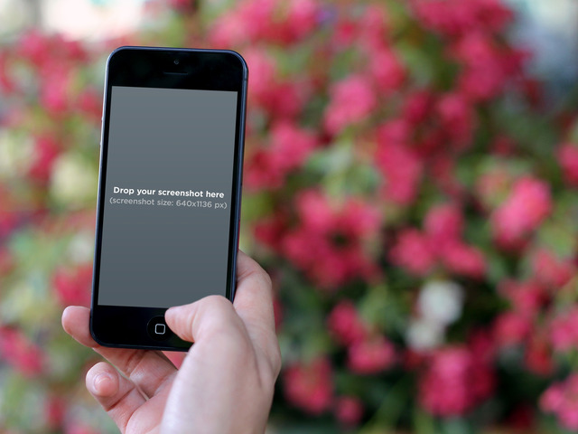 Black iPhone Flower Background