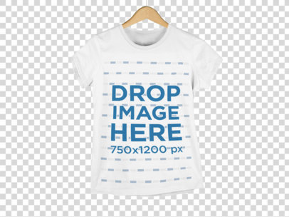 Women's Round Neck T-Shirt Mockup a9156