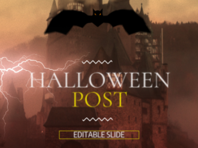 Instagram Video Maker with a Dark Halloween Theme 1866