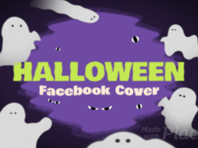 Facebook Cover Video Maker Featuring Cute and Spooky Ghosts 1874