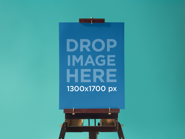 Poster Mockup at a Design Studio 10331