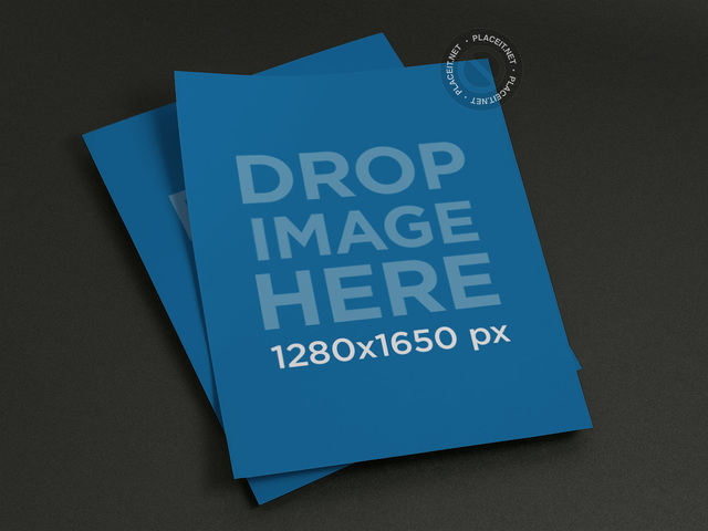Mockup Template of a Set of Flyers a10376