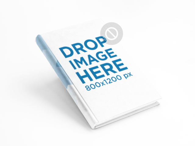 Ebook Mockup in an Angled Position Over a Flat Backdrop a9863