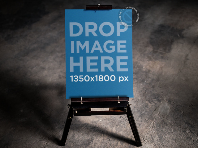 Poster Mockup at a Contemporary Art Gallery a10329