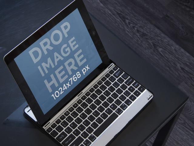 Black iPad Landscape Keyboard Dock