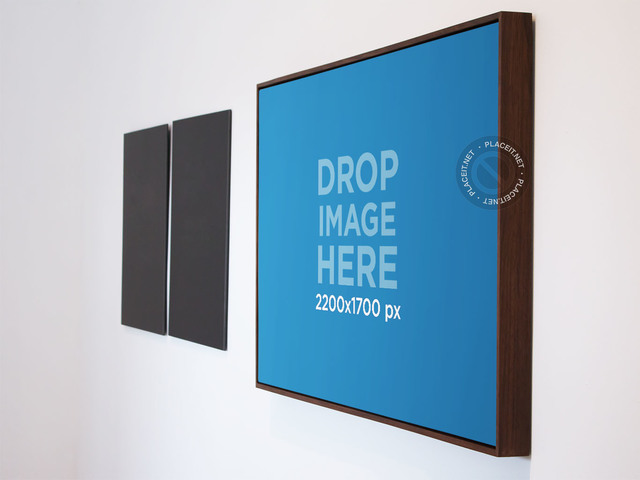 Poster Mockup in an Art Gallery a10561