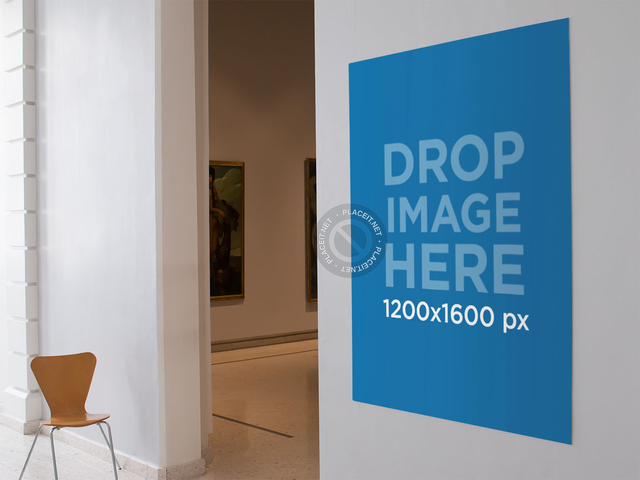 Poster Mockup at an Art Gallery Exhibition a10565