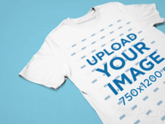 Minimal T-Shirt Video Featuring a Customizable Background 30253