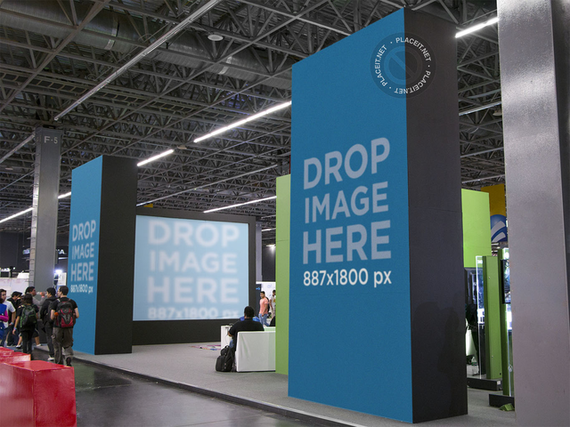 Placeit Trade Show Stand Mockup Featuring Vertical