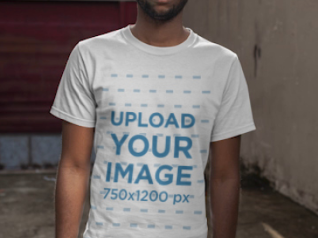 Stop Motion Video of a Man with a Customizable T-Shirt 22534