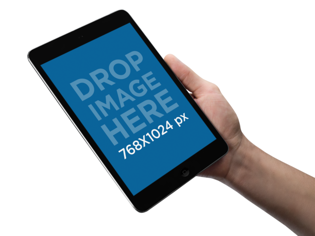 PNG Mockup of an iPad Being Held by a Man a10928