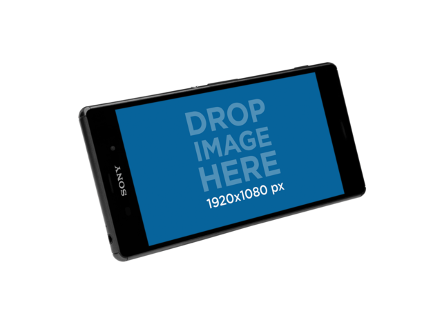 Floating Android Phone Over a Transparent Background a11364
