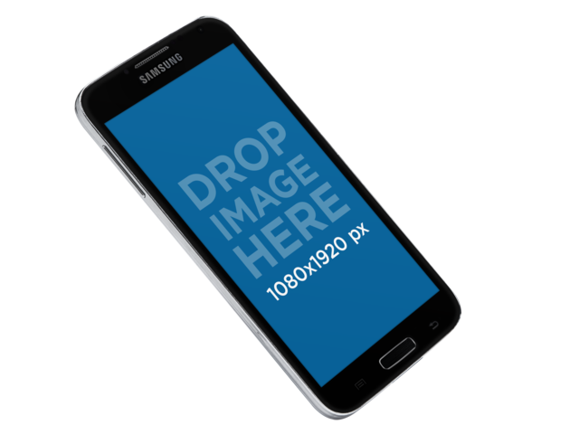 PNG Mockup of a Samsung Galaxy in Vertical Position a11340