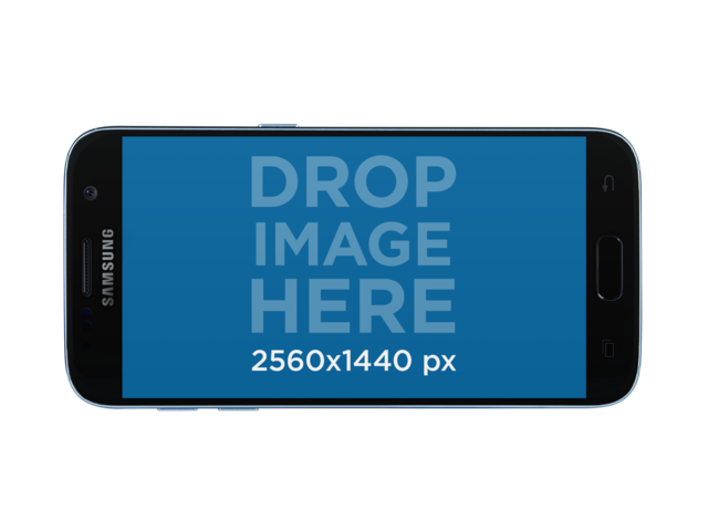 Samsung Galaxy S7 Mockup in Lanscape Position