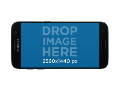 Samsung Galaxy S7 Mockup in Lanscape Position a11468