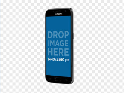 Samsung Galaxy S7 Angled in Vertical Position Mockup a11485