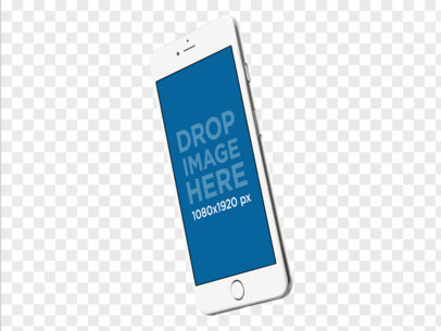 iPhone 6 Template Over Transparent Background a11551