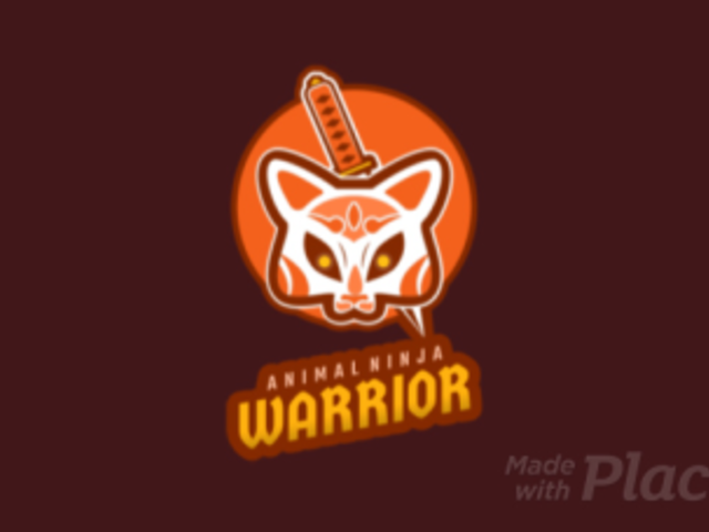 Animated Gaming Logo Creator with an Animal Ninja Warrior 1747l 2315