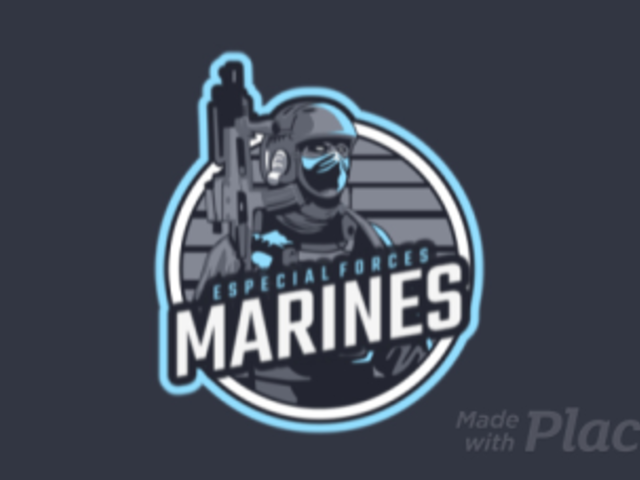 eSports Logo Maker for a Shooter Game with an Animated Marine Clipart 1743d