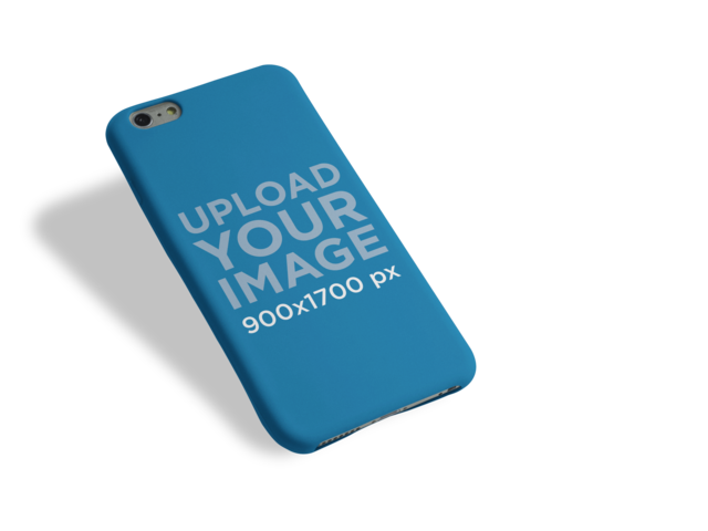 Floating iPhone 6 Plus Case Mockup Over a PNG Background a10238