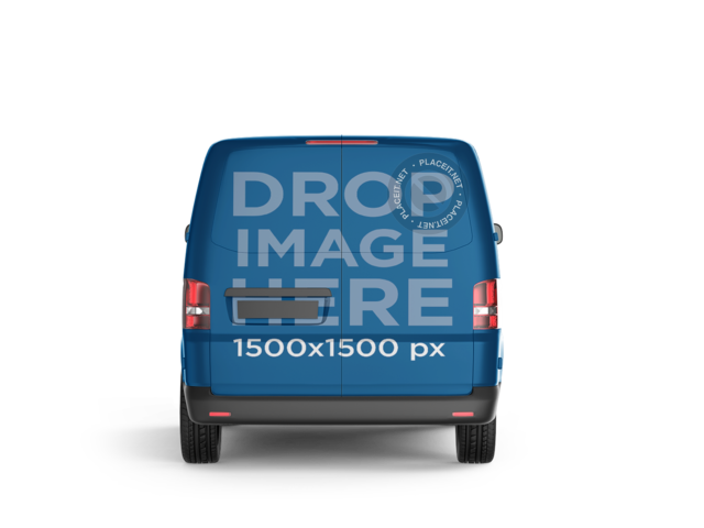Back Side Car Wrap PNG Mockup of a Van 11653