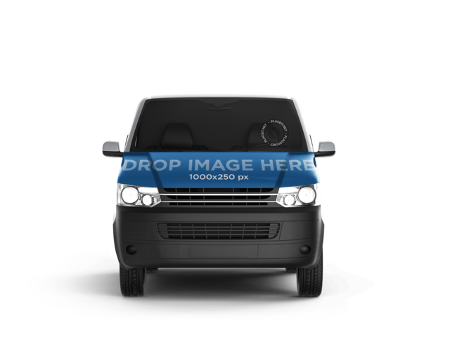 Front View of Van Car Wrap Mockup 11652