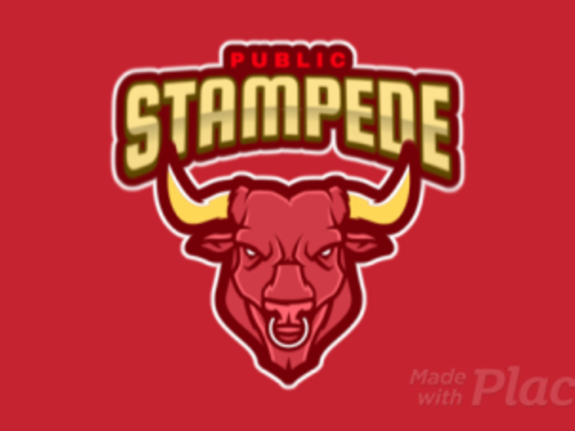 Animated Sports Logo Maker With a Fierce Bull Clipart 484h-2333